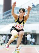 陸上女子三段跳び、田中(龍谷)大会新 県高校総体