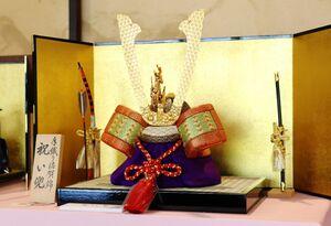 佐賀錦振興協議会は5月5日まで、佐賀市松原の旧福田家で「五月人形フェア」を開いています。