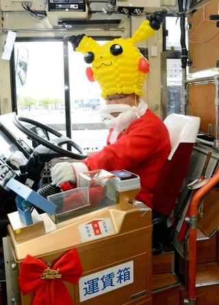クリスマスバス25日まで運行 佐賀市交通局