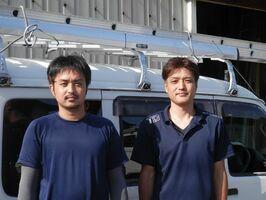 田中剛さん(左)と隆治さん