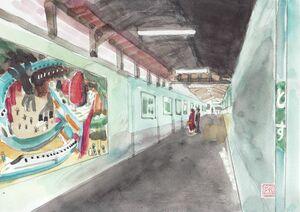 【きやぶ百景】鳥栖駅 線路下のギャラリー