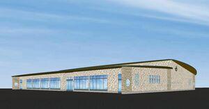 4支所を統合、新たにオープンするJAさが有明支所の完成予想図