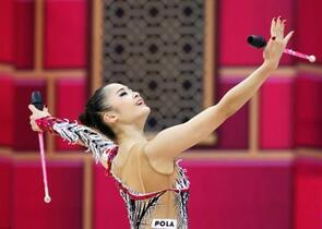 皆川、新体操で五輪出場枠を獲得