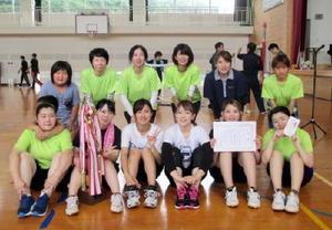 平成29年度大川町民球技大会 女子優勝の立川チーム