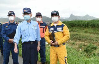 <佐賀2021大雨>武田総務相、武雄市視察 地方交付税、繰り上げ交付