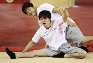 体操、内村ら男子は軽めの調整