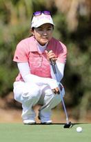 米女子ゴルフ、上原39位に後退