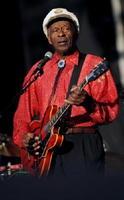 2008年8月、米ボルティモアでのイベントで演奏するチャック・ベリー氏(ロイター=共同)