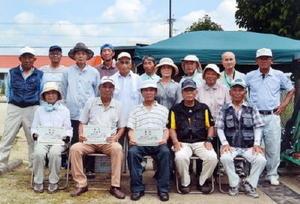 グラウンドゴルフ 神埼町本堀GG球友会大会の参加者