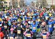 <さが桜マラソン>春駆ける1万人 沿道の声援に笑顔咲く