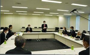 九州新幹線長崎ルートに関する検討の方向性を確認した与党検討委員会=東京都内