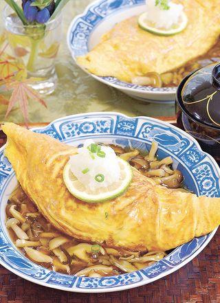 レシピ「雑穀・黒豆ごはんであんかけオムライス」