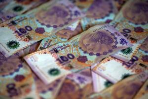 アルゼンチンの紙幣(ロイター=共同)