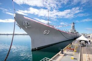 記念館として米ハワイの真珠湾に係留されている戦艦ミズーリ(戦艦ミズーリ記念館提供)