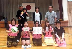 白石町自治公民館対抗女子ソフトバレーボール大会 Aコート優勝の北川チーム