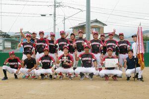 第62回浜玉町内野球大会で優勝した砂子チーム