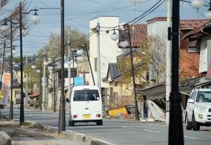 福島県双葉町で整備中の特定復興再生拠点区域=11月24日