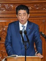 首相「憲法審で改正議論前進」