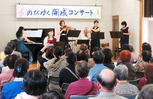 昨年開かれた第1回コンサート=佐賀市の開成公民館