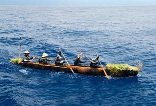 丸木舟で台湾から沖縄へ航海実験