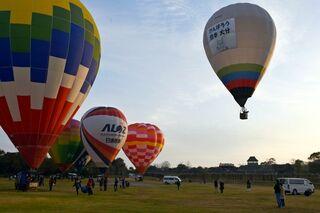 「弥生のクニ」に熱気球 吉野ケ里歴史公園で大会