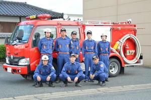地域の防災に力を注ぐ、みやき町消防団三根分団本部の団員たち