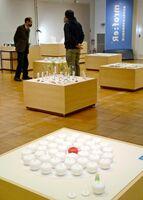 リ・フォームをテーマに焼き物を展示した有田陶交会展=有田町の県立九州陶磁文化館