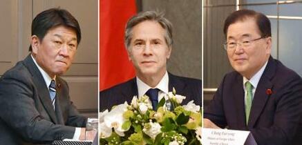 日米韓、北朝鮮完全非核化へ決意
