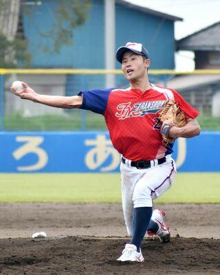 <アマチュア野球>ティーエム物流、攻守で躍動