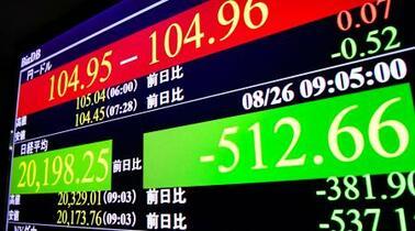 東証全面安、500円急落