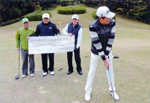 第9回鍋島校区親善ゴルフ大会の参加者