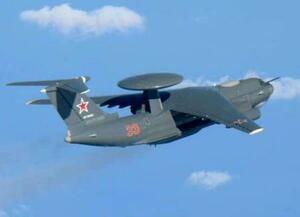 ロシア軍のA50空中警戒管制機(防衛省統合幕僚監部提供)
