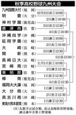 東明館は樟南、唐津商は神村学園と対戦 九州高校野球組…