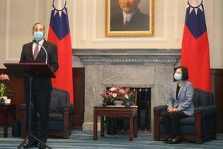 米大統領の「台湾支持」を伝達