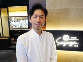 「佐賀牛レストラン Sagaya」の池田太右社長=東京・銀座2丁目の「PUZZLE GINZA」6階