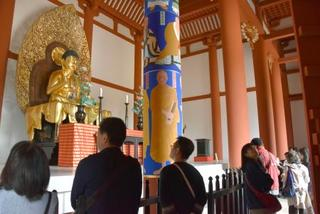 興福寺中金堂で一般拝観始まる