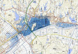 <佐賀2021大雨>六角川で4平方キロ浸水、深さ最大3メートルか 国土地理院推計
