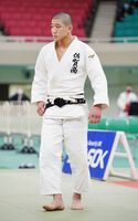 男子73キロ級で準優勝した田中龍雅=日本武道館(代表撮影)
