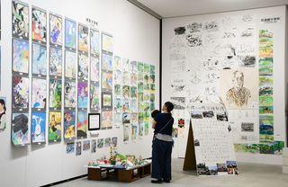 3市の中学校美術部競演 県立美術館で作品展