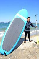 SUPのレース大会 参加者募集 6月2日に浜崎海岸で初開…