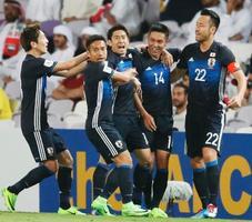 W杯予選、日本は前半1―0