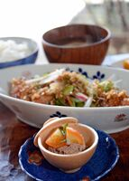 「kasane」で期間中提供された鶏のレバーペーストキンカン添え=有田町中の原
