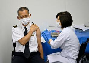 全日空、初の職場接種を開始