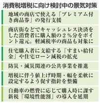 消費税対策に商品券検討