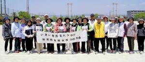 グラウンドゴルフ 佐賀市老連女性部GG大会の上位入賞者