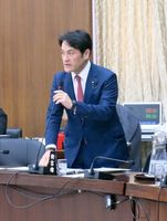 衆院国土交通委員会で交通インフラ政策に関して質問する岩田和親議員=東京・永田町