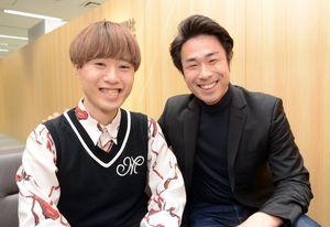 「大切にしたいコンサート」と話す吉武大地さん(右)と宮原健一郎さん=佐賀新聞社