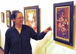 佐賀大0Bが毎年開く展覧会「GEN展」。今年で22回目=佐賀市の村岡屋ギャラリー