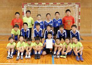 第32回全国小学生ハンドボール大会佐賀県予選 優勝した男子の神埼ジュニア