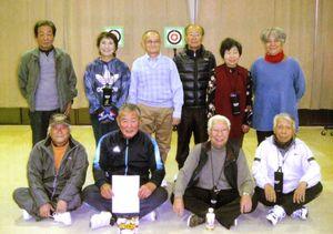 スポーツ吹矢佐賀はがくれ支部12月例会の参加者